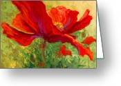Country Greeting Cards - Red Poppy I Greeting Card by Marion Rose