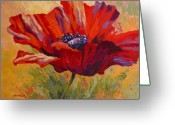 Poppy Greeting Cards - Red Poppy II Greeting Card by Marion Rose