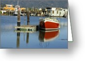 Vari Buendia Greeting Cards - Redboat Greeting Card by Vari Buendia