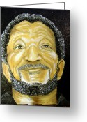 Keenya Woods Greeting Cards - Redd Foxx  Greeting Card by Keenya  Woods