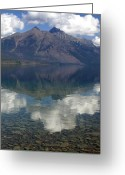 Lake Mcdonald Greeting Cards - Reflections on the Lake Greeting Card by Marty Koch