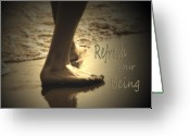Heal Greeting Cards - Refresh Your Being spa series Greeting Card by Cathy  Beharriell