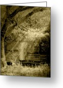 Sepia Greeting Cards - Remember When Greeting Card by Holly Kempe