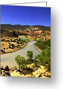 Chama River Greeting Cards - Rio Chama River Greeting Card by Lou  Novick