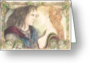 Juliet Greeting Cards - Romeo and Juliet Greeting Card by Morgan Fitzsimons