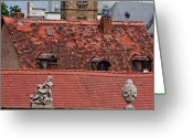 Bamberg Greeting Cards - Rooftops of Bamberg II Greeting Card by Thomas Marchessault