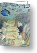 Fish Greeting Cards - Rose Island II Greeting Card by Liduine Bekman