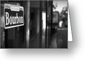 Places Greeting Cards - Rue Bourbon Greeting Card by John Gusky