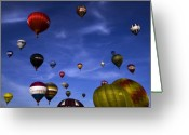 Balloon Fiesta Greeting Cards - Sail away with me hunny.... Greeting Card by Angel  Tarantella