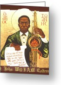 Black Greeting Cards - Saint John the Divine Sound Baptist Greeting Card by Mark Dukes
