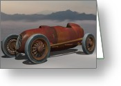 Racer Digital Art Greeting Cards - Salt Flat Racer Greeting Card by Stuart Swartz