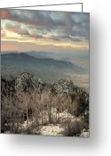 Western Trees Greeting Cards - Sandia happening.. Greeting Card by Al  Swasey