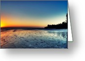 Sanibel Island Greeting Cards - Sanibel Sunrise Greeting Card by Rich Leighton