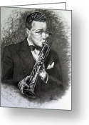 Music Icon Greeting Cards - Satchmo Greeting Card by Toni  Thorne