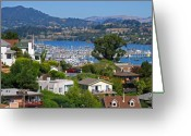 Vari Buendia Greeting Cards - Sausalito Greeting Card by Vari Buendia