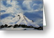 Kelso Greeting Cards - Shasta Greeting Card by Bonnie Kelso