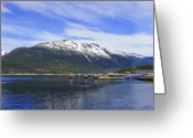 Skagway Greeting Cards - Skagway Mountain Greeting Card by Robert OP Parrish
