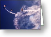 Skydiving Greeting Cards - Sky Surfers Greeting Card by Angel  Tarantella