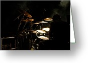 Drummer Greeting Cards - Smoking Drummer Greeting Card by Miranda  Miranda