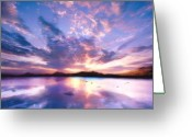 Colorful Greeting Cards - Soft Setting Greeting Card by Photodream Art