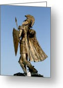 Troy Greeting Cards - Soldier of Fountain Greeting Card by Greg Sharpe