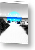 Funkpix Greeting Cards - South Beach Blues Greeting Card by Funkpix Photo  Hunter