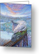 Winter Painting Greeting Cards - Southern over the Cumberland Greeting Card by Gary Symington