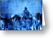 Horses Art Print Greeting Cards - Spirit Herd Greeting Card by Nick Sokoloff