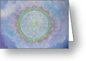 Yantra Greeting Cards - Sri Yantra Greeting Card by Sundara Fawn
