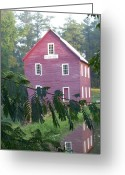 Starrs Greeting Cards - Starrs Mill GA view across the dam Greeting Card by Jake Hartz