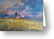 Silo Greeting Cards - Storm Brewing Greeting Card by Ryan Radke