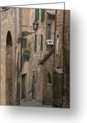 Assisi Greeting Cards - Streets of Assisi Greeting Card by Lynn Andrews