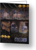 Barbara Nesin Greeting Cards - Sukkah for Papa Zaca Greeting Card by Barbara Nesin