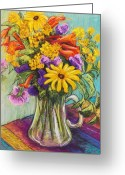 Bright Pastels Greeting Cards - Summer Bouquet Greeting Card by Candy Mayer