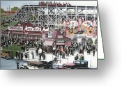 Amusement Parks Greeting Cards - Sunnyside Park Greeting Card by Kenneth M  Kirsch