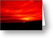 Reds Greeting Cards - Sunset 2 Greeting Card by Tim Allen