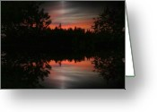 Grey Clouds Greeting Cards - Sunset  4 Greeting Card by Tim Allen