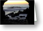Dana Point Greeting Cards - Sunset Cave Greeting Card by Brad Scott