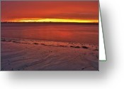 Florida Sunset Greeting Cards - Sunset over Anna Maria Island Greeting Card by Jim Dohms