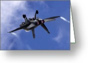 Afterburner Greeting Cards - Superhornet Greeting Card by Angel  Tarantella