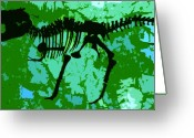 Archaeological Greeting Cards - T. Rex Greeting Card by David Lee Thompson