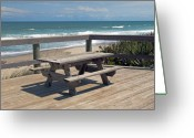 Melbourne Beach Greeting Cards - Table for you in Melbourne Beach Florida Greeting Card by Allan  Hughes