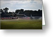 Afterburner Greeting Cards - Take off Greeting Card by Angel  Tarantella