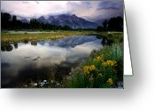 Rocky Mountains Greeting Cards - Teton Reflections Greeting Card by Eric Foltz