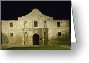 Alamo Greeting Cards - The Alamo in San Antonio Texas Greeting Card by Carol M Highsmith