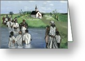 Baptize Greeting Cards - The Baptism Greeting Card by Toni  Thorne