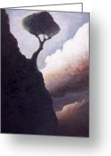 Cliff Painting Greeting Cards - The Darkside of Hope Valley Greeting Card by Ethan Harris