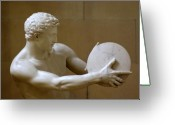 Greek Sculpture Greeting Cards - The Discus Thrower Greeting Card by Iain MacVinish