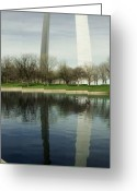 The West Greeting Cards - The Gateway Greeting Card by Ryan Heffron