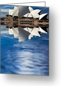 House Tapestries Textiles Greeting Cards - The iconic Sydney Opera House Greeting Card by Sheila Smart